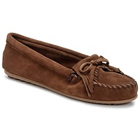 Schuhe Damen Slipper Minnetonka KILTY Braun