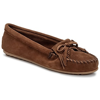 Schuhe Damen Slipper Minnetonka KILTY Braun