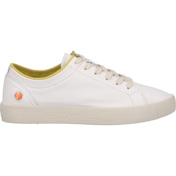 Schuhe Damen Sneaker Low Softinos Sneaker Weiß/Gelb