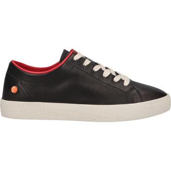 Schuhe Damen Sneaker Low Softinos Sneaker Schwarz/Rot