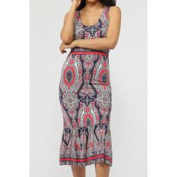 Kleidung Damen Maxikleider Admas Blau Paisley Sommer langes Kleid Blau
