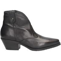 Schuhe Damen Boots Metisse DX109 Texano Frau SCHWARZ SCHWARZ