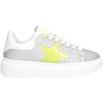 Schuhe Damen Sneaker Low Shop Art SA050115 Sneaker Frau SILBER WEISS SILBER WEISS
