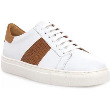 Schuhe Herren Sneaker Low Soldini COLORADO BIANCO CUOIO Bianco