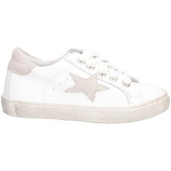 Schuhe Mädchen Sneaker Low Dianetti Made In Italy I9869 Sneaker Kind WEISS GRAU WEISS GRAU