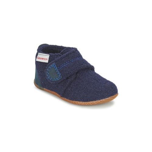 Schuhe Jungen Hausschuhe Giesswein OBERSTAUFEN Blau
