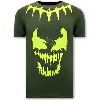 Kleidung Herren T-Shirts Local Fanatic Totenkopf Shirt Venom Face Neon Grün