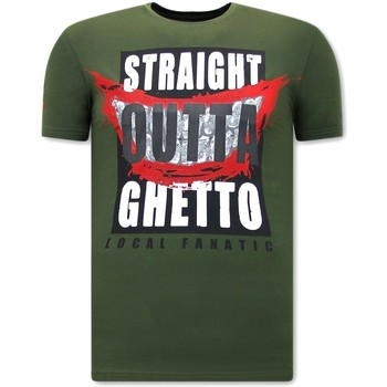Kleidung Herren T-Shirts Local Fanatic Straight Outta Ghetto Grün