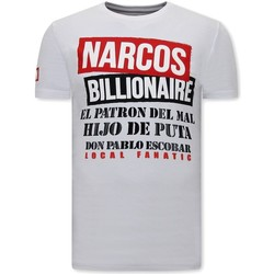 Kleidung Herren T-Shirts Local Fanatic Narcos Weiß