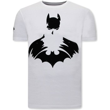 Kleidung Herren T-Shirts Local Fanatic Batman Print Weiß