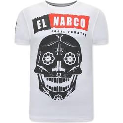 Kleidung Herren T-Shirts Local Fanatic El Narco Mit Print Weiß
