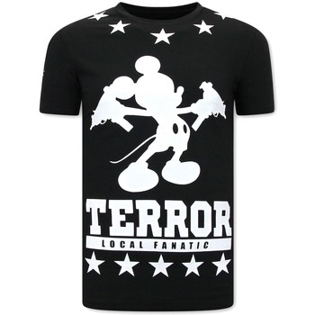 Kleidung Herren T-Shirts Local Fanatic Terror Mouse Schwarz