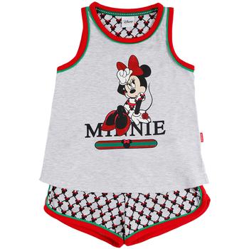Kleidung Mädchen Pyjamas/ Nachthemden Admas Pyjama Mädchen Shorts Tank Top Minnie Cool Disney grau Hellgrau