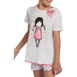 Kleidung Mädchen Pyjamas/ Nachthemden Admas Schlafanzug für Mädchen Shorts T-shirt Awareness Santoro Hellgrau
