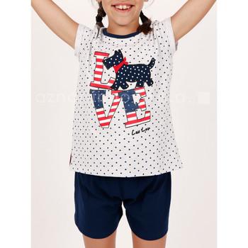 Kleidung Mädchen Pyjamas/ Nachthemden Admas Pyjama Mädchen kurzes T-Shirt LouLou Liebe grau Hellgrau