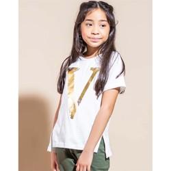 Kleidung Mädchen T-Shirts Vicolo 3146M0301 T-shirt Kind SAHNE SAHNE