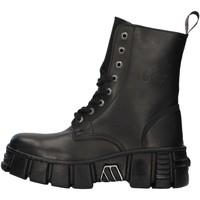 Schuhe Boots New Rock WALL026NBASA SCHWARZ