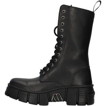 Schuhe Boots New Rock WALL027NBASA SCHWARZ