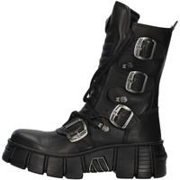 Schuhe Boots New Rock WALL028N SCHWARZ