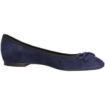 Schuhe Damen Slipper Frau 7250 Ballerina  Blau Blau
