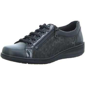 Schuhe Damen Sneaker Low Solidus Schnuerschuhe Kate 29001-90247 schwarz