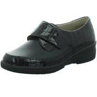 Schuhe Damen Derby-Schuhe Solidus Slipper 00023 kroko 26530 schwarz