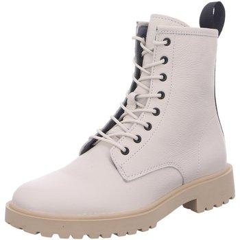 Schuhe Damen Boots Blackstone Stiefeletten D Boots kalt creme UL67 Almond Milk weiß