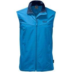 Kleidung Herren Trainingsjacken Jack Wolfskin Sport ACTIVATE VEST MEN 1304451 1152 blau