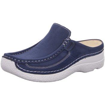 Schuhe Damen Pantoletten / Clogs Wolky Slipper 0620211 820 blau