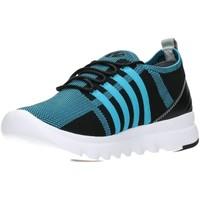 Schuhe Damen Sneaker Low Wolky Schnuerschuhe Mako 02125 blau