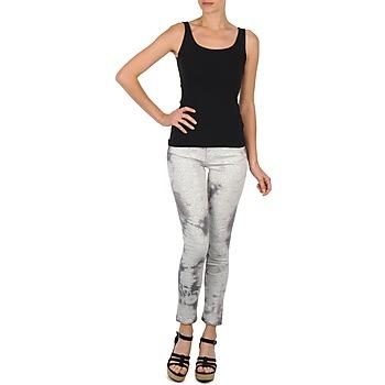 Kleidung Damen 3/4 Hosen & 7/8 Hosen Cimarron CLARA TIE DYE PYTHON Grau
