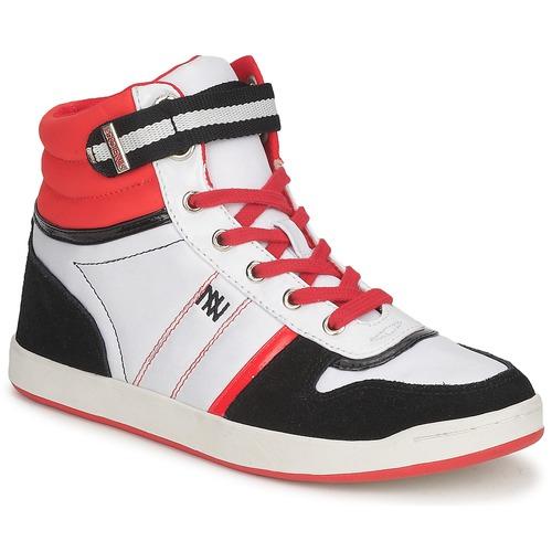 Dorotennis STREET LACETS Rot / Weiss / Schwarz  Schuhe Sneaker High Damen 51,92