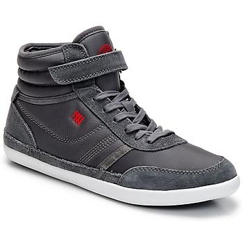 Schuhe Damen Sneaker High Dorotennis MONTANTE STREET VELCROS Grau