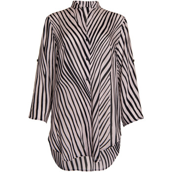 Kleidung Damen Hemden Lisca Okinawa  Sommerhemd Dreiviertel-Ärmel Perlschwarz-weiß