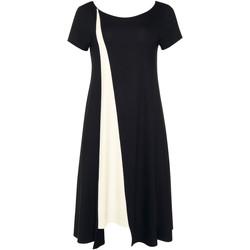 Kleidung Damen Kurze Kleider Lisca Sommerkleid kurze Ärmel schwarz Guaraja Perlschwarz