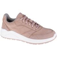Schuhe Damen Sneaker Low 4F OBDL250 Weiß, Rosa