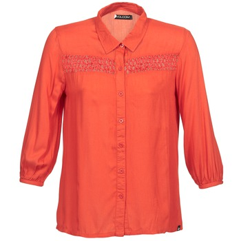 Kleidung Damen Langärmelige Hemden Volcom KNOTTY Rot