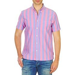 Kleidung Herren Kurzärmelige Hemden Ben Sherman BEMA00487S Rose / Blau