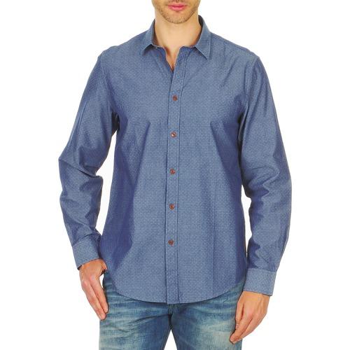 Kleidung Herren Langärmelige Hemden Ben Sherman BEMA00490 Blau