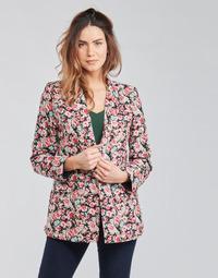Kleidung Damen Jacken / Blazers Betty London OBIMBA Schwarz / Rose
