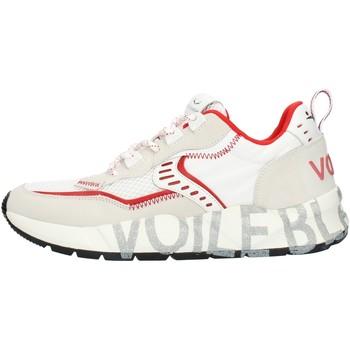 Schuhe Herren Sneaker Low Voile Blanche 001201592601 weiß und Rot