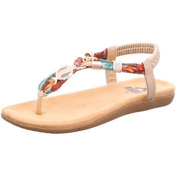 Schuhe Damen Zehensandalen Mustang Sandaletten 8018805 699 beige