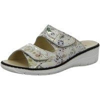 Schuhe Damen Pantoletten / Clogs Longo Pantoletten Helle Pantolette 1071616 weiß