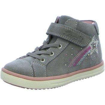 Schuhe Mädchen Sneaker High Salamander High shooty grey suede blinki 33-13690-25 grau