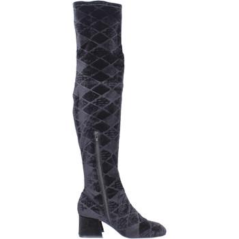 Schuhe Damen Kniestiefel Apepazza BJ801 Schwarz