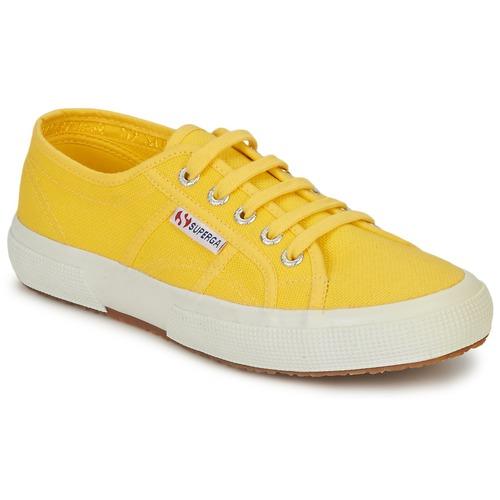 Schuhe Damen Sneaker Low Superga 2750 CLASSIC Gelb