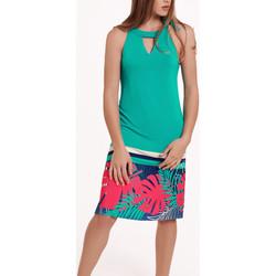 Kleidung Damen Kleider Lisca Ärmelloses Sommerkleid Tahiti Dunkelgrün