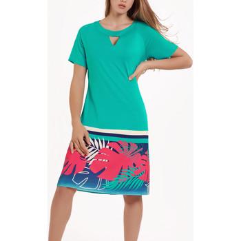 Kleidung Damen Kleider Lisca Tahiti  kurze Ärmel Sommerkleid Dunkelgrün