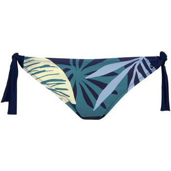 Kleidung Damen Bikini Ober- und Unterteile Lisca Tahiti  geknoteter Badeanzug-Slip Blau