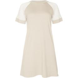 Kleidung Damen Kurze Kleider Lisca Kurzärmeliges Strandkleid Ibiza Gelb